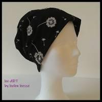 Beanie-Loop - gleichzeitig Mütze und Loop - KU 56, genäht aus Jersey in schwarz-weiß, von he-ART by helen hesse Bild 2