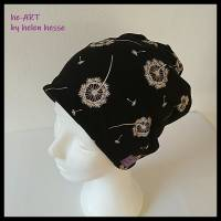 Beanie-Loop - gleichzeitig Mütze und Loop - KU 56, genäht aus Jersey in schwarz-weiß, von he-ART by helen hesse Bild 3