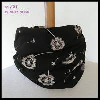 Beanie-Loop - gleichzeitig Mütze und Loop - KU 56, genäht aus Jersey in schwarz-weiß, von he-ART by helen hesse Bild 5
