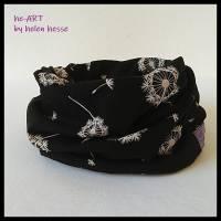 Beanie-Loop - gleichzeitig Mütze und Loop - KU 56, genäht aus Jersey in schwarz-weiß, von he-ART by helen hesse Bild 6