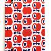 """Notizbuch Rezeptbuch """"Apples&Hearts"""" A5 Hardcover stoffbezogen Äpfel Birnen Retro Retrofan Retroliebhaber Geschenk Geschenkidee Geschenkartikel Bild 3"""