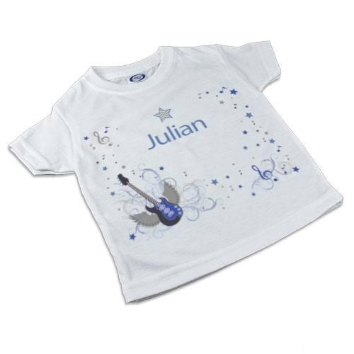 T-Shirt, Kinder T-Shirt mit Namen, Jungen, Motiv Rockstar blau Bild 1