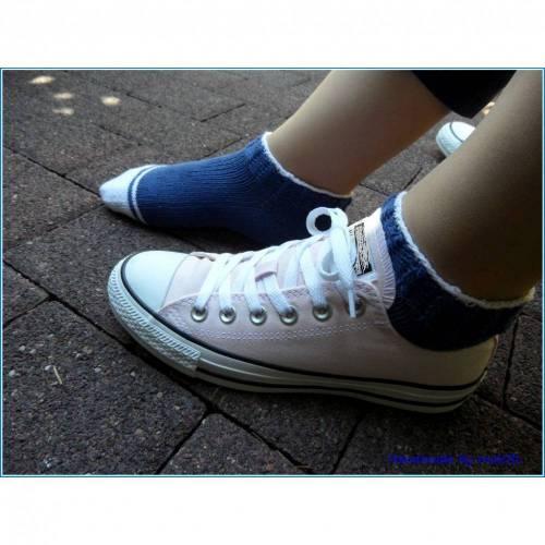 Sneaker Socken Größe: 38/39, blau, weiß