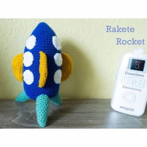 Amigurumi Rakete Rocket  amigoll9  Deko  Handarbeit