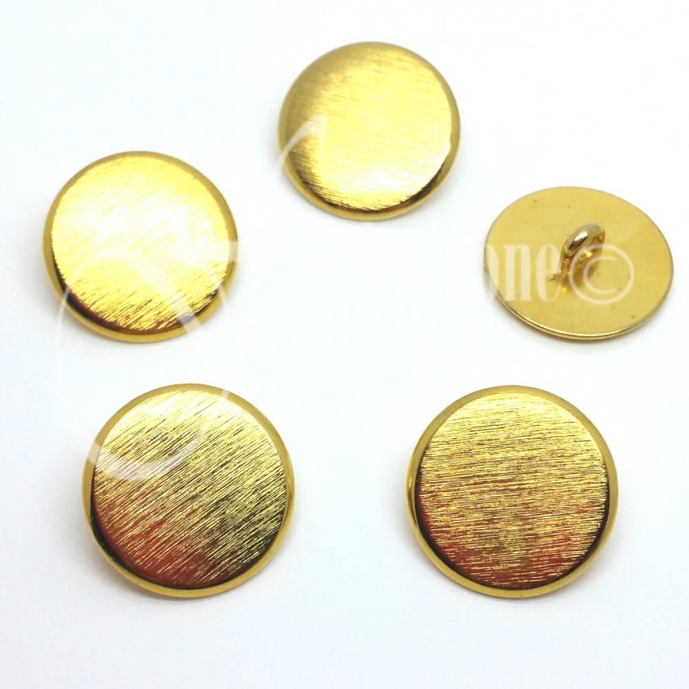 Metall Knöpfe | Ösen Knopf | Uniform Knopf | 5 Stück | Ø 20 mm | GOLD | gebürstet  Bild 1