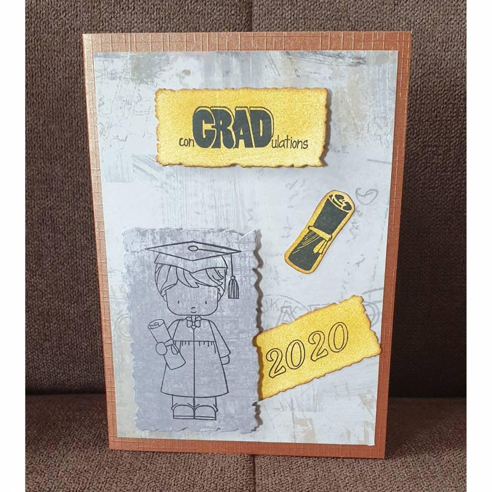Glückwunschkarte , Abitur , 2020 Bild 1