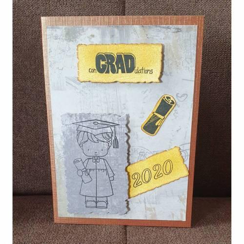 Glückwunschkarte , Abitur , 2020
