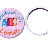Handspiegel, Schule ABC, personalisiert, Geschenk Einschulung, Füllung Schultüte Bild 1