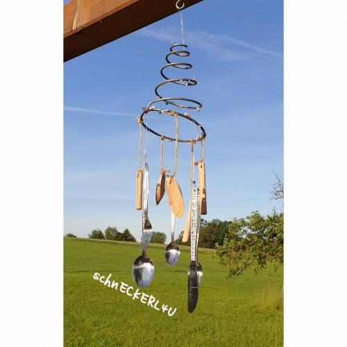 #Windspiel #Gartendeko #Mobile  #Landhausdeko #Bettfeder #Geschenk #homedeko #sommer