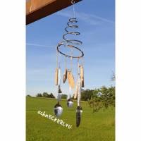 #Windspiel #Gartendeko #Mobile  #Landhausdeko #Bettfeder #Geschenk #homedeko #sommer Bild 1