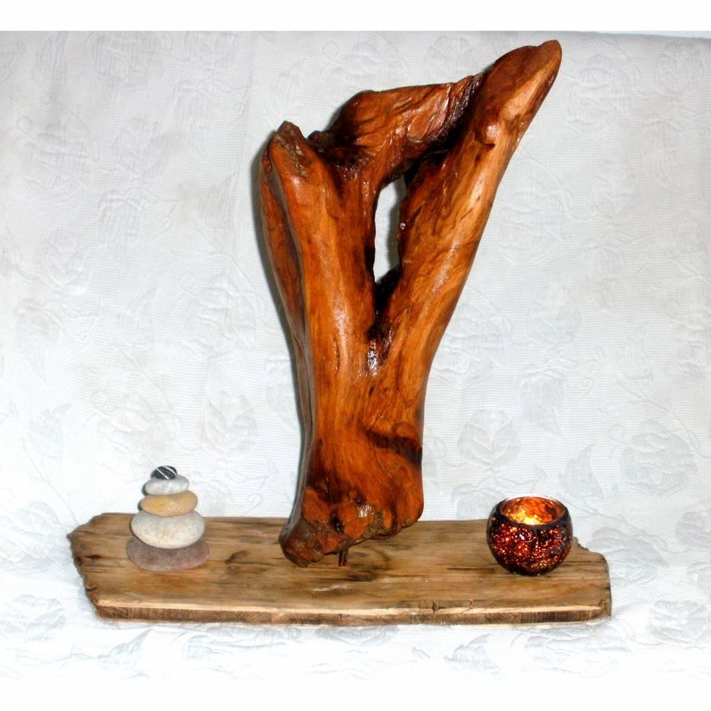 Treibholz Skulptur Holzdeko nachhaltiges Unikat Bild 1