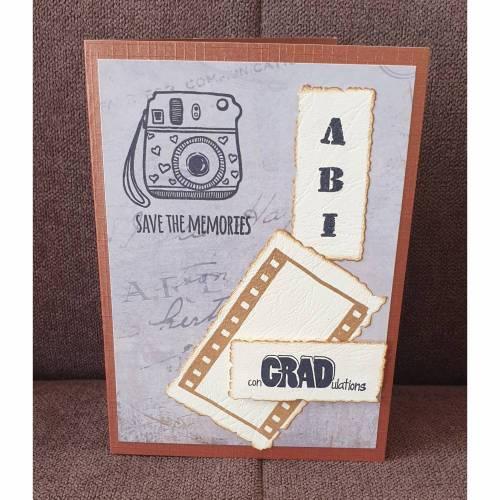 Glückwunschkarte , Abitur , Fotoapparat , Schulabschluss