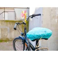 Sattelbezug, Fahrradsattelschoner, türkis, grafisches Muster, wasserabweisend Bild 1