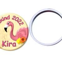 Handspiegel,Flamingo, personalisiert, Geschenk Einschulung, Füllung Schultüte Bild 1