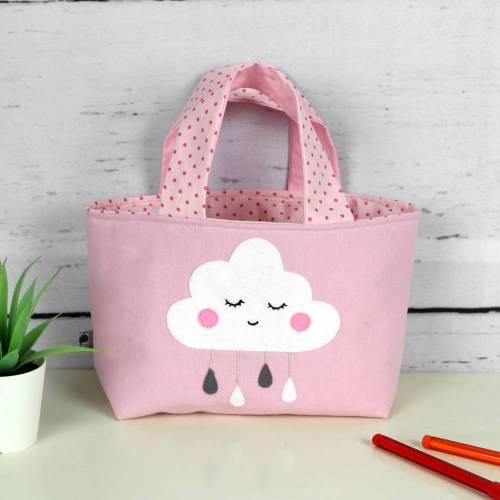 Kindertasche ~ Wölkchen | Wendetasche | Personalisiert | Geschenke für Kinder | Mädchen