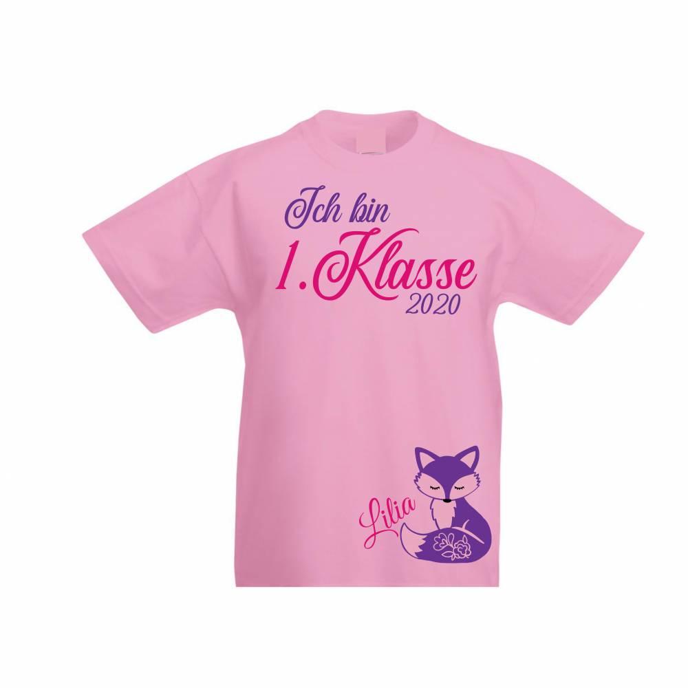 T-Shirt zur Einschulung  Schulkind erstklassig mit Name Bild 1