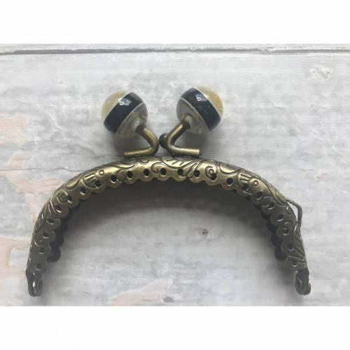 Taschenbügel Taschenrahmen Taschenrahmenrohling gold Purse frame Perlenverschluß zweifarbig