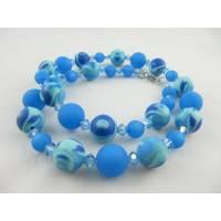 Kette Blau Hellblau Polaris Perlen (619) Bild 1