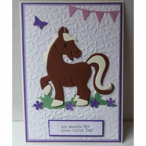 Glückwunschkarte zum Geburtstag mit Pferd