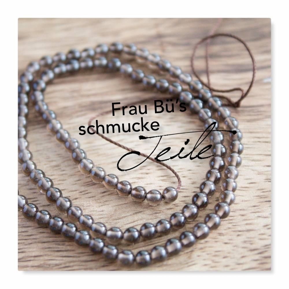 RAUCHQUARZ, Perlenstrang, Perle 4 mm, Länge ca. 20 cm Bild 1