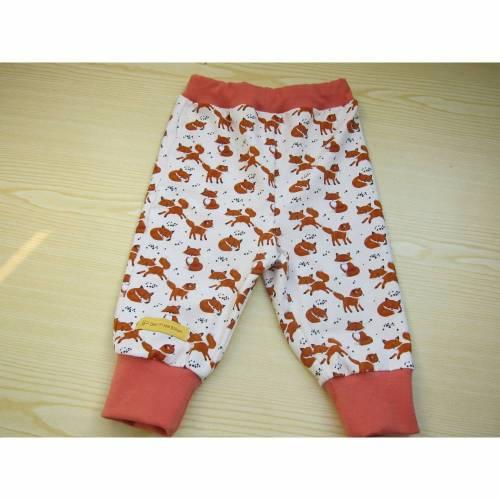 Öko Baby Leggings  Fuchs Pumphose mit dreieckstuch in Terrakotta und creme Gr. 62-68 oder zu bestellen in anderen Größen