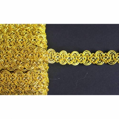 1m leonische Borte gold 20 mm breit in Bögen Lurex