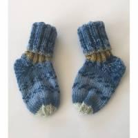 handgestrickte Babysocken (67) Grösse 14/15 Bild 1