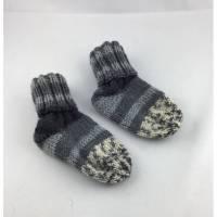 handgestrickte Babysocken (68) Grösse  Bild 1