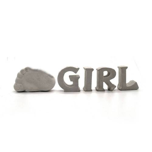 Beton Buchstaben Girl | Geburt | Babyparty | Babyshower