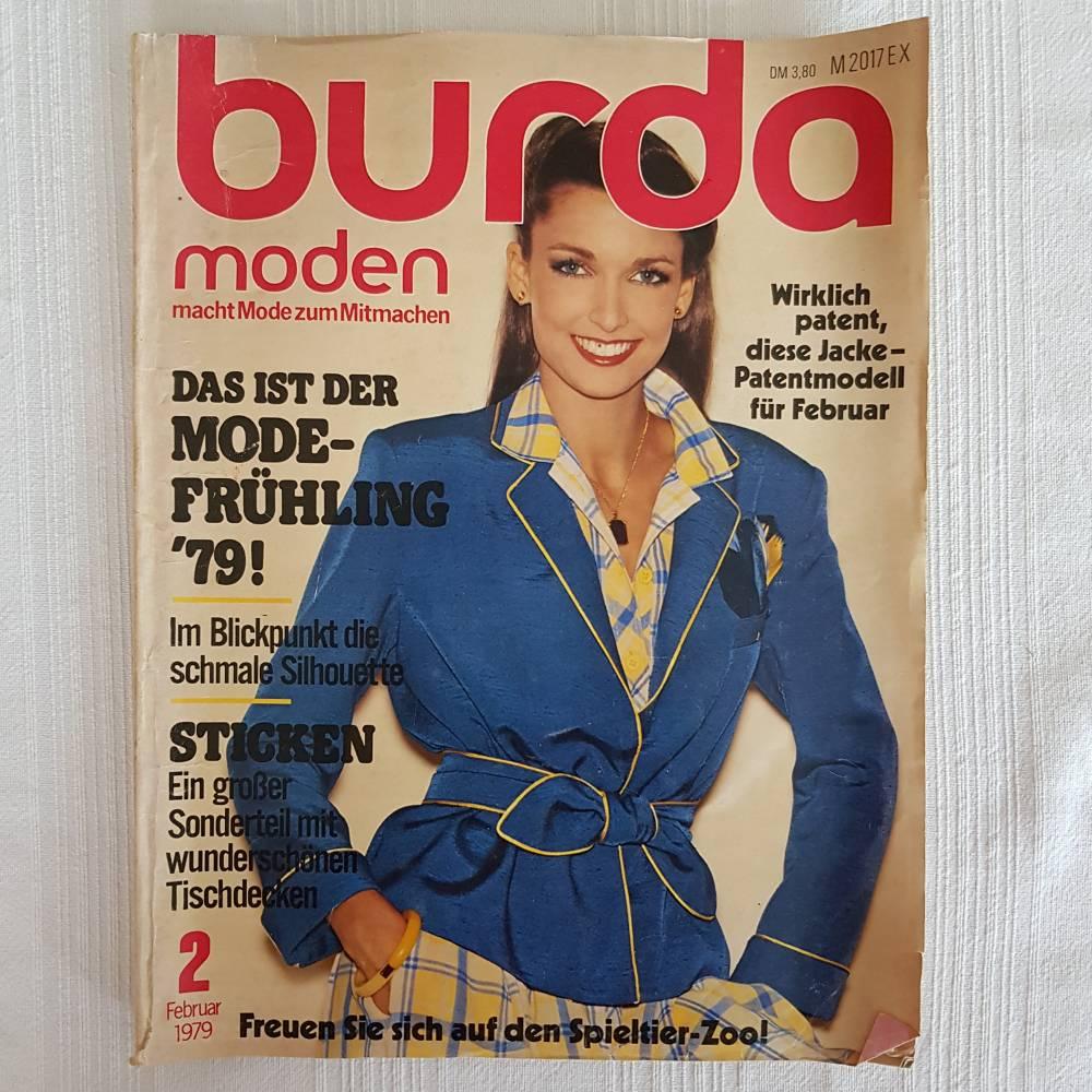Vintage burda Februar 1979, Schnittmuster, Stickmuster, Kuscheltiere, Söckchen uvm Bild 1