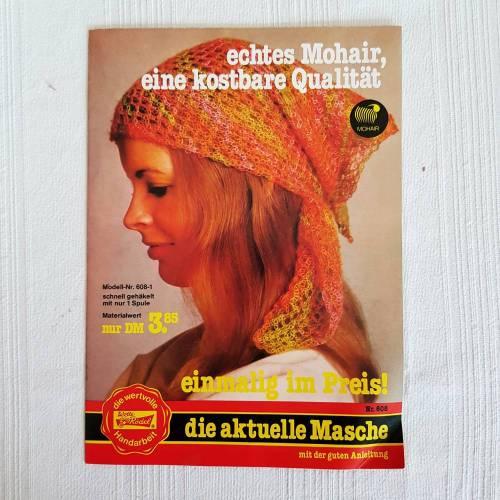 Vintage die aktuelle Masche Handarbeit von Wolle-Rödel Schal, Kopftuch,
