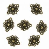10 Verbinder Blume Filigrane Antik Bronze  Bild 1