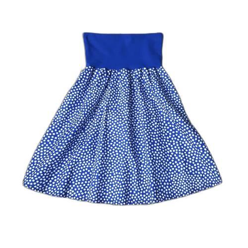 Damenrock Baumwollrock Größe 36-40 universal - blau weiß Punkte