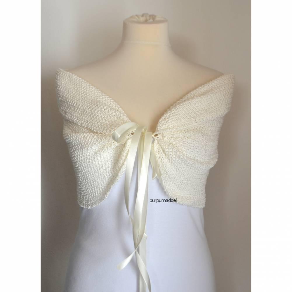 Braut Stola, Hochzeit, Bolero creme,Braut Bolero, Elfenbein, Hochzeits Schal, Schal, Ivory! Bild 1