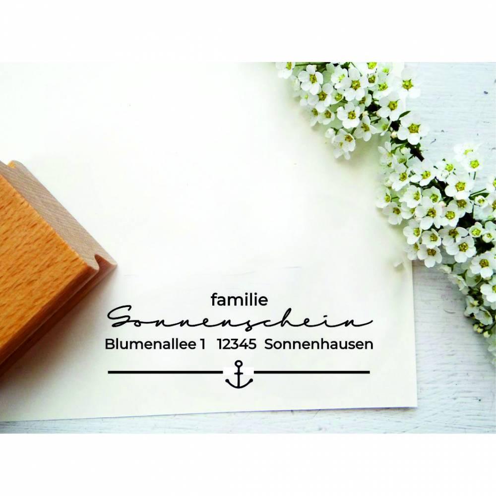 Stempel, Adresstempel, Familienstempel mit Anker Bild 1