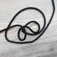 Gestrickte Kordel 4,5mm schwarz 14 Bild 1