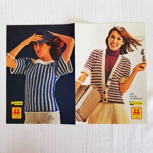 Vintage von Esslinger Wolle, Strickanleitung für 3 teiliges Damenkleid und Damenpullover Größe 38/40 u 40/42