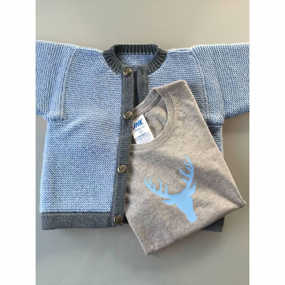 Trachtenjacke hellblau, Jacke, Kinderjacke, Landhausjacke, Strickjacke Bild 1