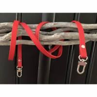 Roter Taschengurt aus Kunstleder, Schultergut, Taschenhenkel, Taschenriemen Bild 1