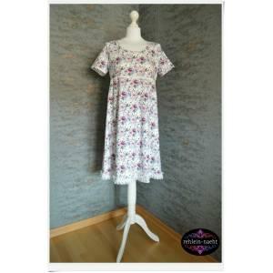 Lieblingskleid Nr. 5 Sommerkleid Jerseykleid  Blüten  Gr. M