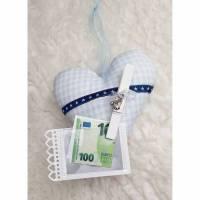 Gutschein/Geldschein- Geschenk-Verpackung zur Geburt- Junge Bild 1