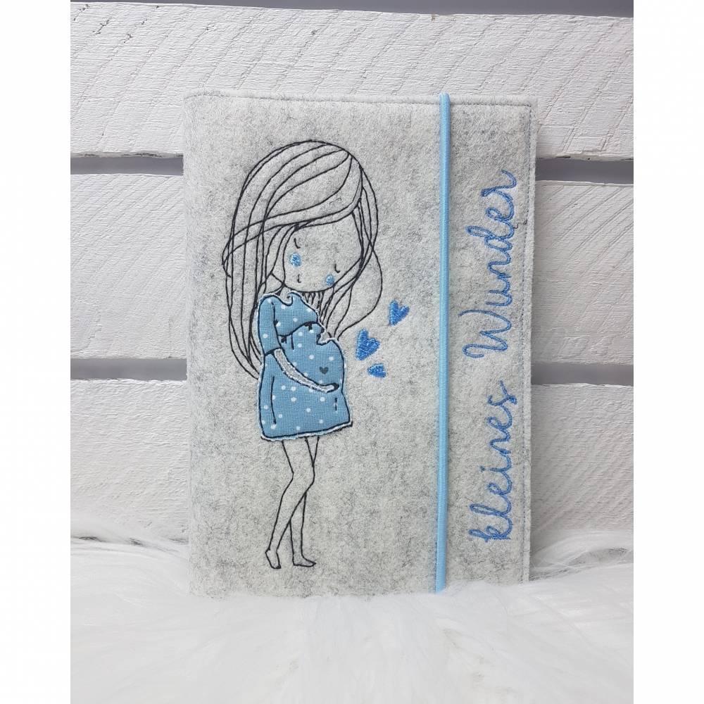 Mutterpasshüllen- Schwangerschaft blau Bild 1