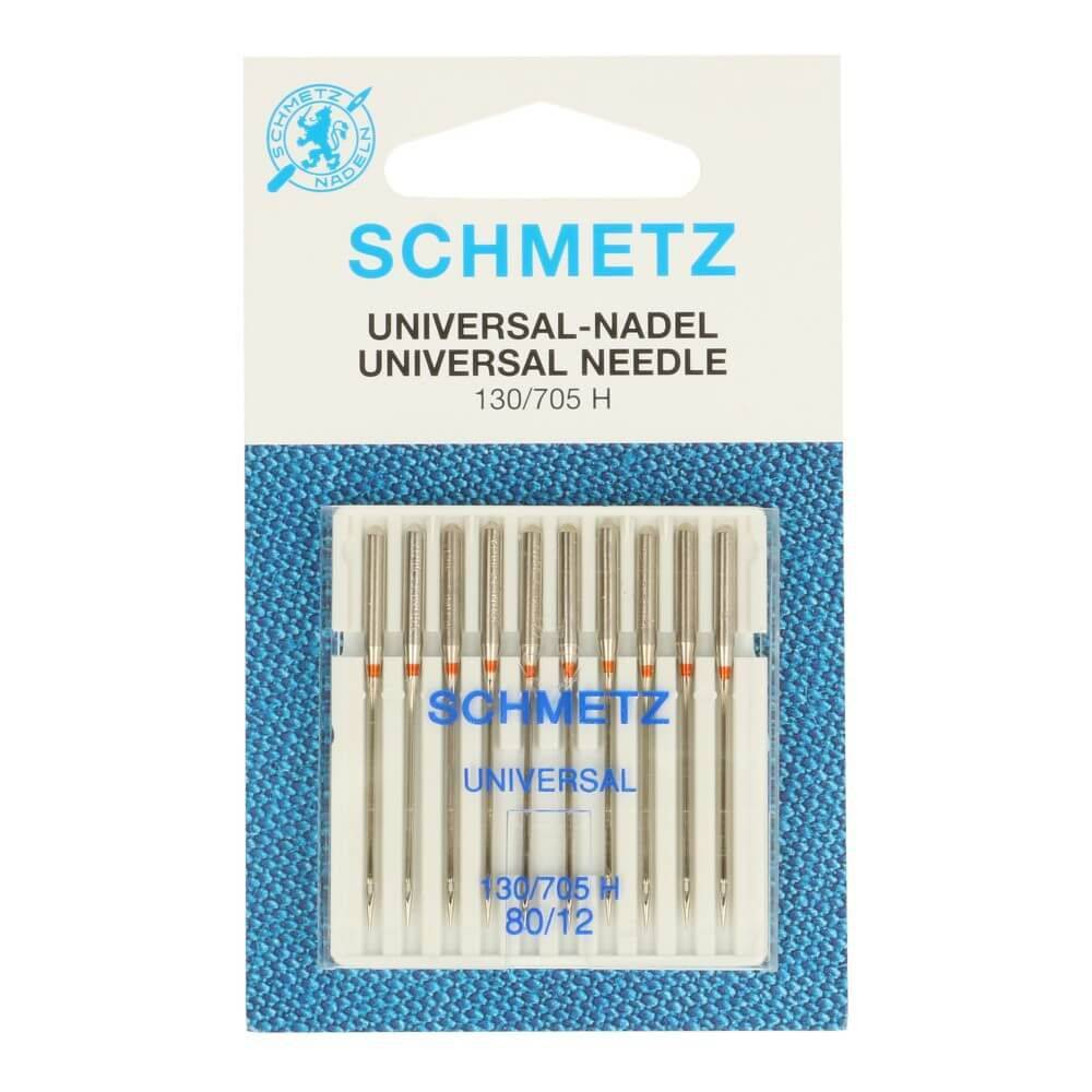 Schmetz Universal-Nadel 80/12 Flachkolben 10 Stück Bild 1