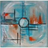 Acryl abstrakt 60x60cm Bullauge Bild 1
