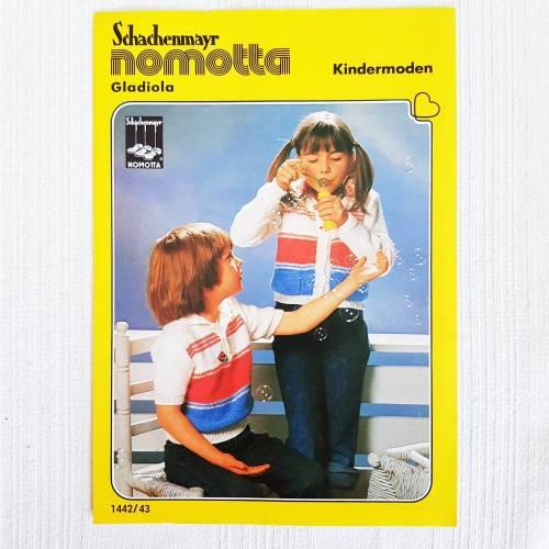 Vintage Strickanleitung von Schachenmayr nomotta, Kindermoden, Kinderpullover, Kinderjäckchen