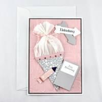 Einladungskarte zur Einschulung Schulanfang Mädchen Rosa Bild 2