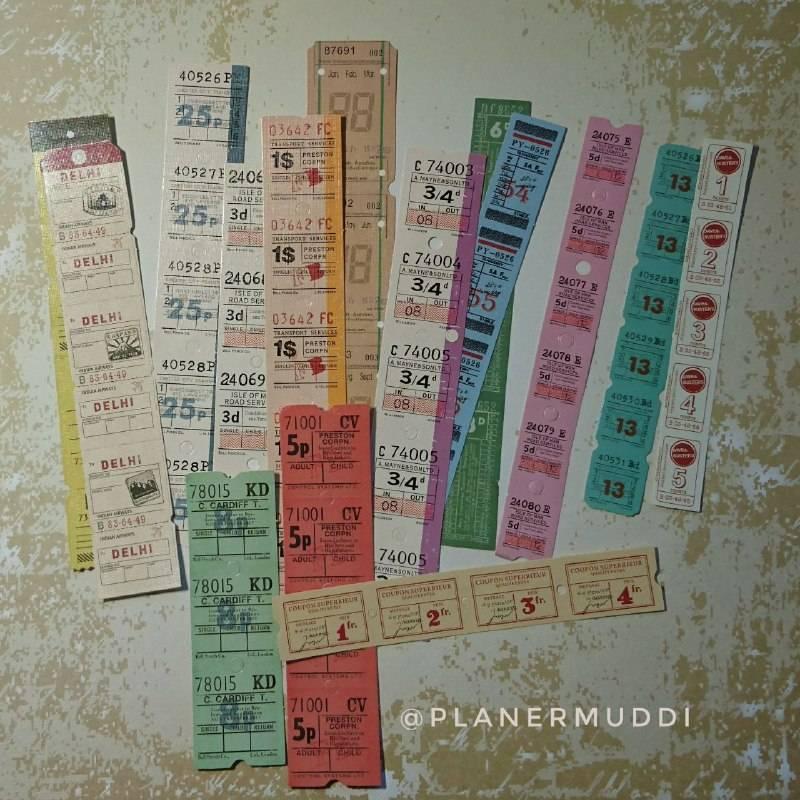 """Sticker-Set Vintage """"Tickets"""" 2, 15-teilig Bild 1"""