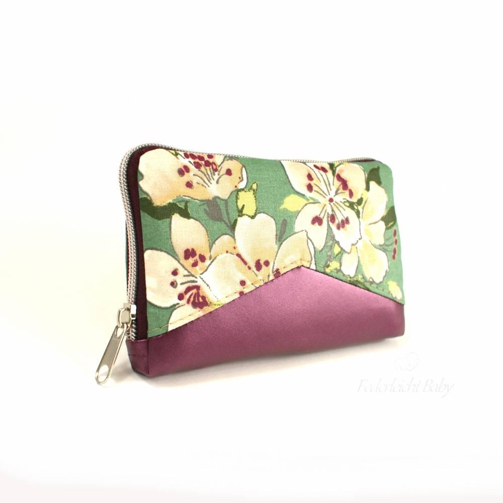 Portemonnaie Little Mynta Kirschblüte - Geldbeutel mit umlaufenden Reißverschluss - Unikat Bild 1