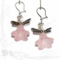 Handgemachte Elfen-Ohrringe *Elfe 001* aus Acryl-Blüten, keine Versandkosten