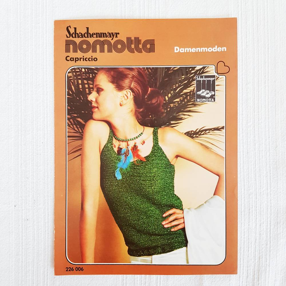 Vintage Häkelanleitung von Schachenmayr nomotta, gehäkeltes Damenoberteil, Top, 34-42 Bild 1